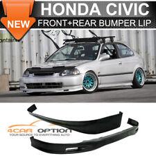 Fits Spoon 96-98 Honda Civic 3Dr Front + Rear Bumper Lip