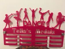 Dance Mix Medal Hanger Holder Display Rack PERSONALISED 3Tier 5mmAcrylic COLOURS