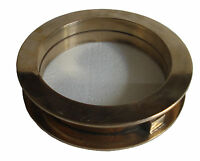 Marine BRASS PORT HOLE / Window / Porthole -  8 Inches Outer - TOUGHENED GLASS
