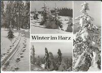 Ansichtskarte Winter im Harz - Blankenburg - Winterlandschaft - schwarz/weiß