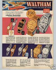 1961 PAPER AD 3 PG Waltham Wrist Watch Century Rototron 100 Jewel 65 Jewel