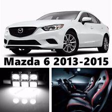 14pcs LED Xenon White Light Interior Package Kit for Mazda 6 2013-2016