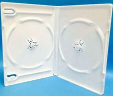 10 New Premium White Double Multi hold 2 Disc DVD CD Cases, Standard 14mm, DW