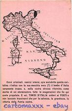 WW1 WWI Propaganda - Trento e Trieste, Terre Irredente - Mappa Map - TV024