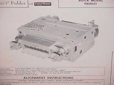 1960 BUICK ELECTRA 225 LESABRE INVICTA CONVERTIBLE AM RADIO SERVICE MANUAL 1