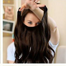 New Body Wave Invisible Wire Wire  Halo Hair Extensions 100% Remy Human Hair 80G