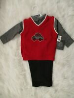 English Laundry Toddler Boys 3 Piece Outfit 18 24 mo Shirt Vest Pants Set NEW