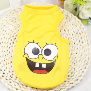 Dog Clothes SpongeBob Yellow Dog T Shirt for Small Dog or Cat Ships from US