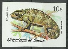 Guinee Reptiles Cameleon Chameleon Lappenchamaleon Non Dentele Imperf ** 1977