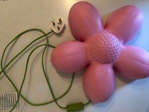 IKEA Smila Blomma Pink Flower Wall Light Lamp Night Girls Bedroom