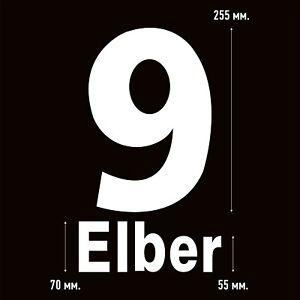 Elber 9. Bayern Munich Home football shirt 1997 - 1999 FLOCK NAMESET NAME SET
