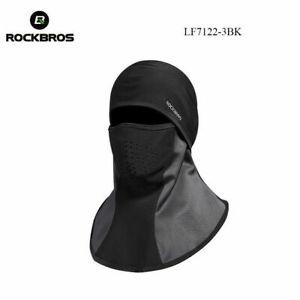 ROCKBROS Winter Fleece Cap Outdoor Windproof Cycling Warm Hood Mask Scarf Black
