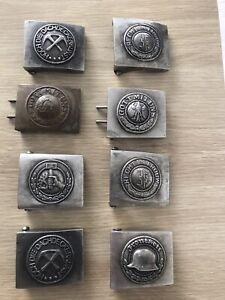 ww2 german belt buckles lot