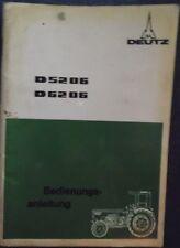 Deutz Traktor D 5206 , D 6206 Bedienungsanleitung
