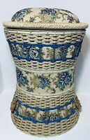 Vintage Wicker Sewing 🧵Basket Set- 3 Tier Stacking Notions Storage Bins Craft✂️