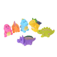 6X Dinosaur Rubber squeaking Toy Children's Cognitive PVC Bath Toys 5t