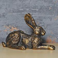More details for bronze effect hare sculpture harriet glen statue ornament figure gift