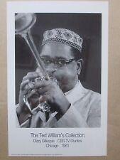 Vintage The TWC Dizzy Gillespie CBS-TV Studios 1961 Poster 12492
