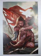 """DCEASED #1 (DEATH OF SUPERMAN) ART PRINT by Inhyuk Lee ~ 12"""" x 16"""" ~ DC Comics"""