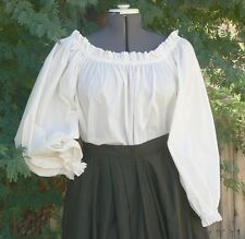 VICTORIAN / AMERICAN CIVIL WAR PEASANT/GYPSY BLOUSE  10-26 CHOSE COLOUR