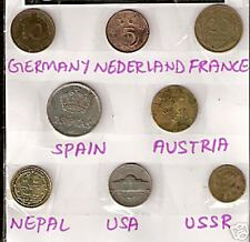 8 DIF COUNTRIES COINS WITH GERMANY NETHERLAND NEPAL AUSTRIA LOT # M 13