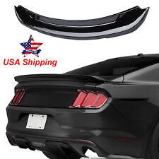Gloss Black GT350 Stytle Rear Spoiler Wings Trim for Ford Mustang 2015 2016 2017