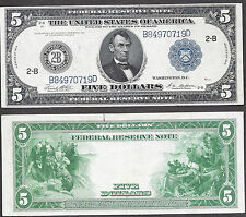 $5 1914 FRN= NEW YORK=LINCOLN=FEDERAL RESERVE NOTE=ATTRACTIVE=GREAT PRICE=VF