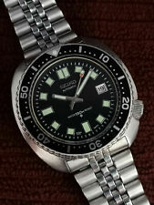 "BIG CUSHION VINTAGE SEIKO DIVER ""6309-7040"" MODIFIED - 6105 DIAL & HANDS 4D3950"