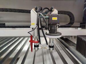 150W+150W HQ1325 CO2 Vision Laser Cutting Machine/CCD Contour Dual Head Mark Cut