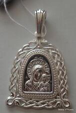 grandes plata fina 282m Colgante Madre Dios KAZAN 15S