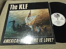 "KLF - SPANISH 12"" MAXI SPAIN BLANCO Y NEGRO 92 AMERICA WHAT TIME IS LOVE TECHNO"