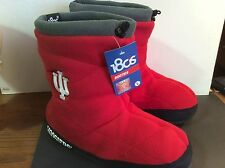Indiana Hoosiers slipper boots NCAA  size large booties 180s comfortable unisex