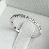BLACK FRIDAY DIAMOND WEDDING BAND NATURAL ROUND 0.30 CT F/SI 14K WHITE GOLD