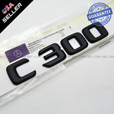 ABS C300 Emblem 3D Matte Black Trunk Logo Badge Decoration AMG Modified