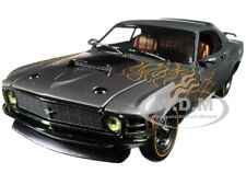 1970 FORD MUSTANG BOSS 429 CHARCOAL & FLAMES 1/24 DIECAST MODEL BY M2 40300-57A