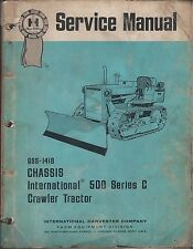 Old 1971 Blue Ribbon Manual Chassis International Harvester 500 Crawler Tractor