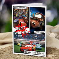 CARS, MCQUEEN - Personalised Birthday Card - Son, Grandson, Nephew, Friend