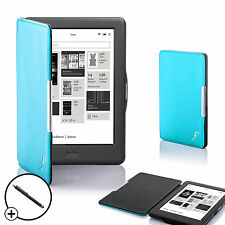 Blue Smart Shell Case Cover for Kobo Glo HD eReader with Free Stylus