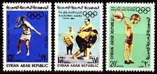 Syrien Syria 1965 ** Mi.890/92 Olympische Spiele Olympic Games Tennis Ringen