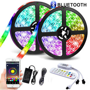 LED Strip light RGB IC Dream Color 12V Rainbow Effect Color Changing Bluetooth