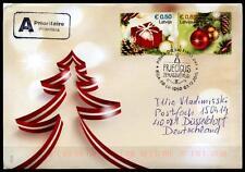 Weihnachten. Weihnachtsgeschenke, Kugeln. FDC-Brief. Lettland 2015