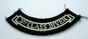 Rare Vintage Scuba Diving Patch 3rd Class Diver