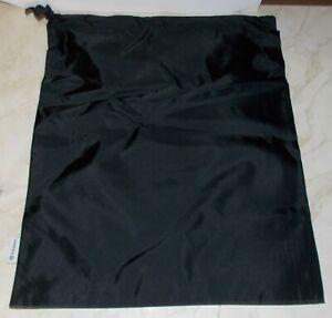 "LULULEMON 15"" X 18"" NYLON BLACK DRAWSTRING CINCH SHOE BAG PACK GYM SNEAKERS NEW"