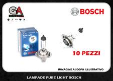 Bosch h7 alogene lampade per auto moto 12v 55w confezione da 10 lampadine