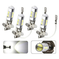 4Pcs  Car Auto LED White Fog Driving DRL Light Bulbs H3 6000K 10SMD Lamp Kits