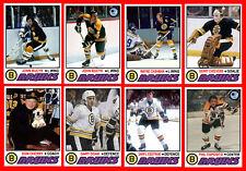 BOSTON BRUINS Retro Style 1977-78 Custom Made Hockey Cards U-Pick THICK