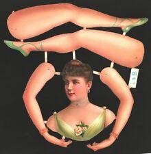 uralter wunderschöner Oblaten Bogen Ballerina L&B 2686 - DIE CUT PAPER DOLL