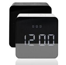 Cuadrada LED despertador digital alarma despertador reloj schlummerfunktion Modern Touch
