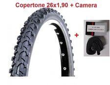 """1 Copertone Nero 26x1,90 + Camera d'aria Deestone per Bici 26"""" MTB Mountain Bike"""
