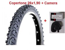 "1 Copertone Nero 26x1,90 + Camera d'aria Deestone per Bici 26"" Tipo Trekking"